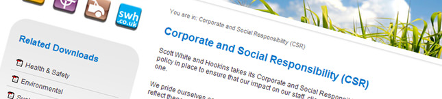 Scott White and Hookins website redesign