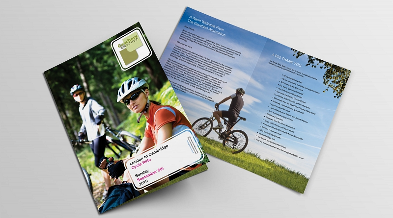 Gauchers Association - Design of 4 page complimentary guide to their charity cycle event