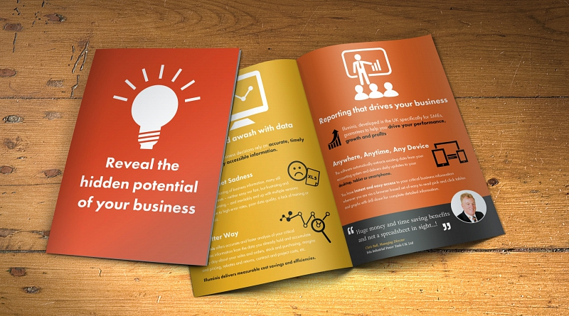 Illuminis IT Systems - Design of 4 sided A5 leaflet for promotion at their conference