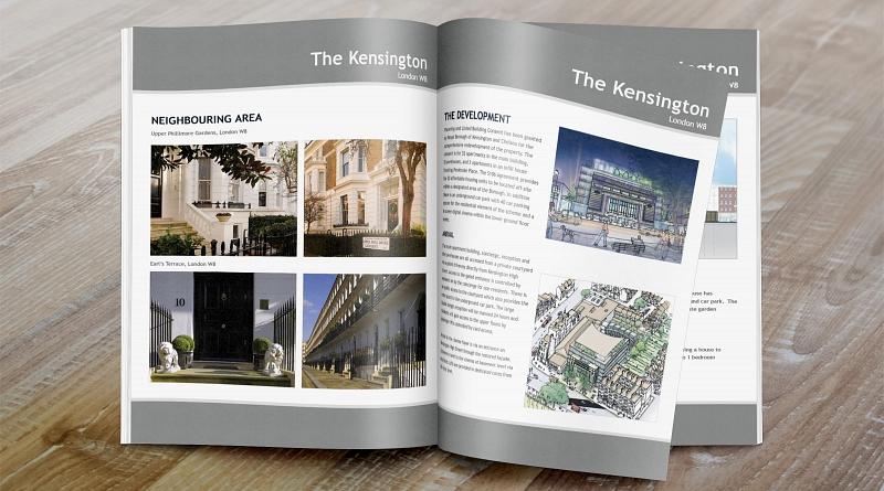 The Odeon Kensington - Design of 28 page brochure to advertise the sale and development of The Odeon in Kensington