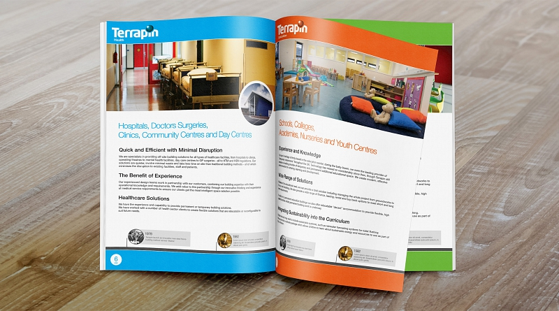 Terrapin - Design of a 28 page brochure to advertise their sectors, services and solutions