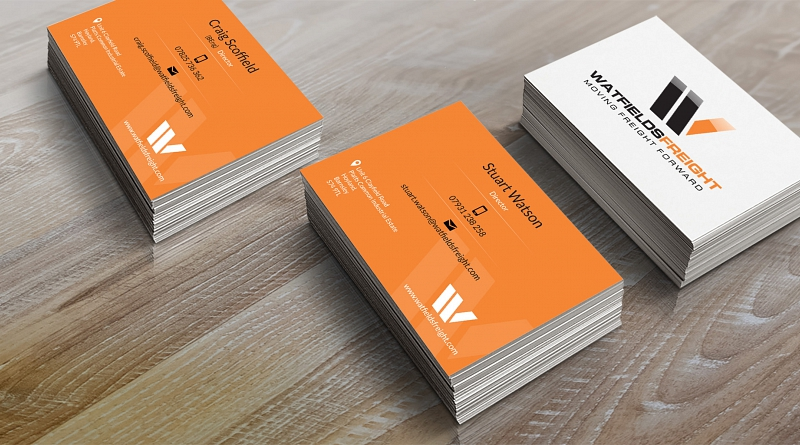 Watfields Freight - Design of double sided business cards for two directors