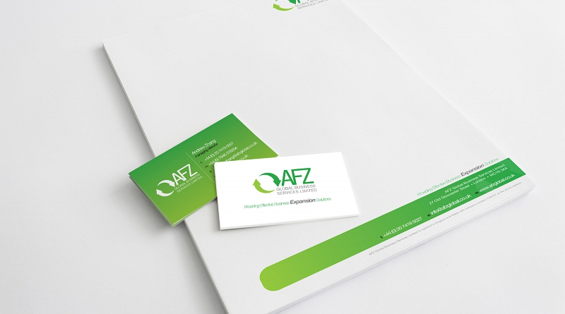AFZ Global - Design of corporate stationery