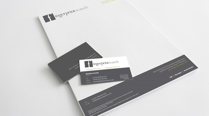Fingerprint Search - Design of corporate stationery