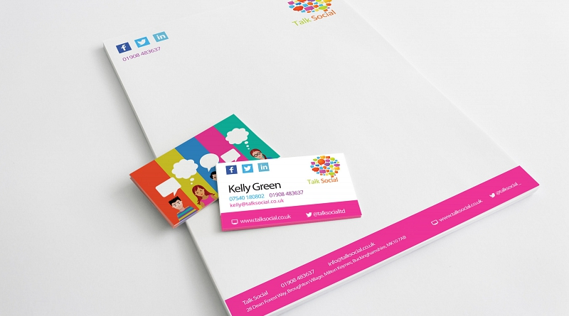 Talk Social - Design of corporate stationery
