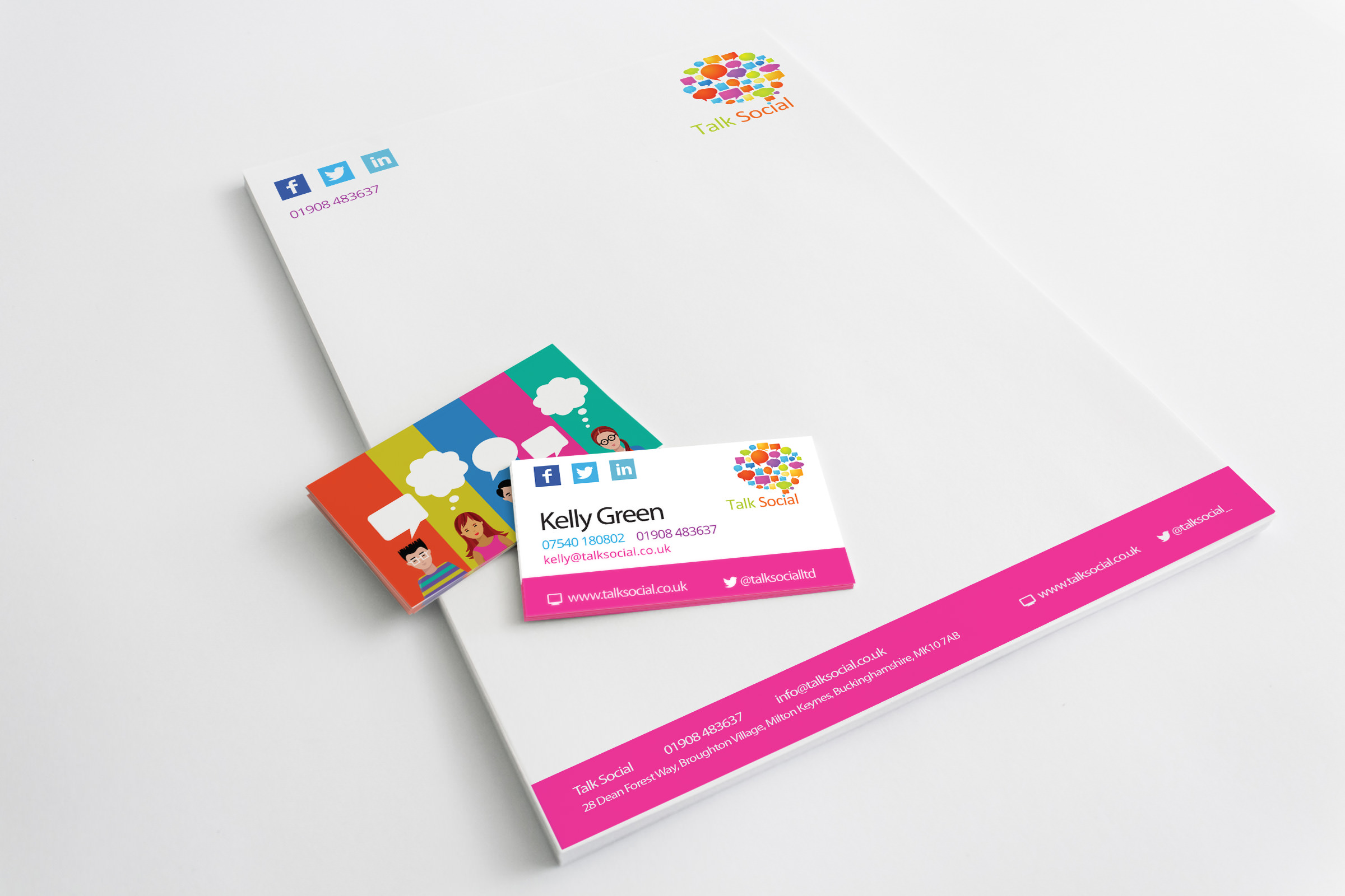 Print design service milton keynes talk social design of corporate stationery view artwork reheart Images